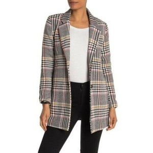 Sebby Collection Womens Glen Plaid Two Button Wove